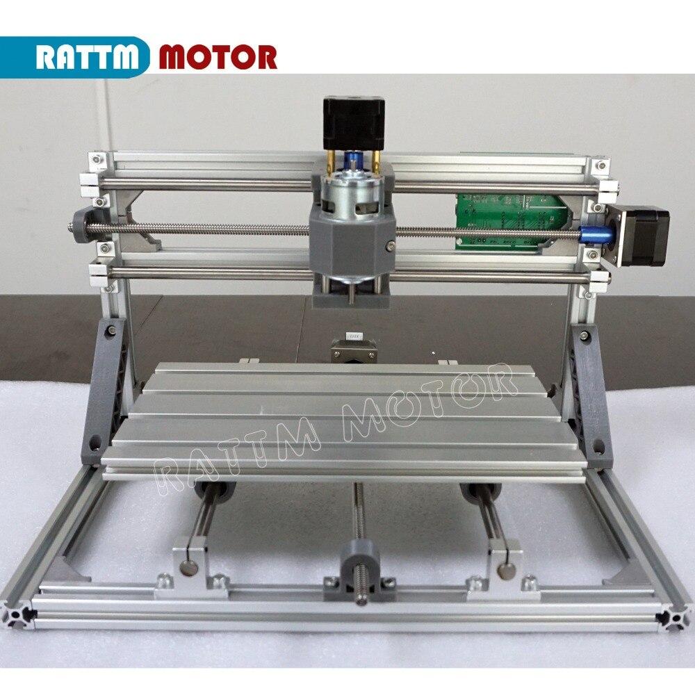 Vaisseau RUS!! CNC 3018 GRBL contrôle bricolage CNC machine 30x18x4.5 cm, 3 axes Pcb Pvc fraiseuse bois routeur laser gravure v2.5 - 4