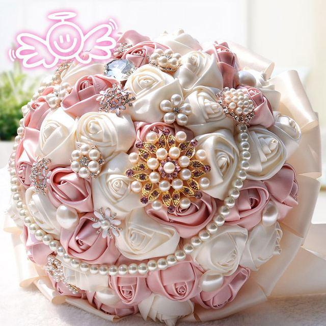 Искусственные розы свадьба брошь букет жемчужина рамо novia букет флер mariage bruidsboeket свадебный букет невесты цветы