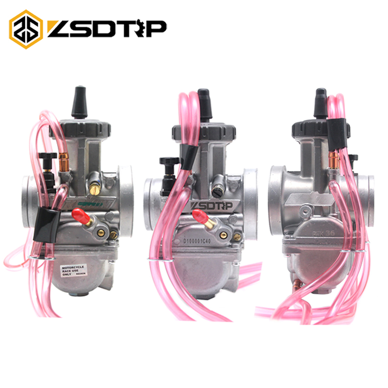 ZSDTRP KEIHIN PWK 33 34 35 36 38 40 42mm Motorcycle Carburetor For Honda Yamaha ATV Dirt Bikes Racing 2T/4T Engine Carb