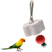 Harness Parrot Bird Squirel Cage Chew Bite Bell Toy Teeth Grinding Clean Tool Parakeet Cockatiel Budgie(China)