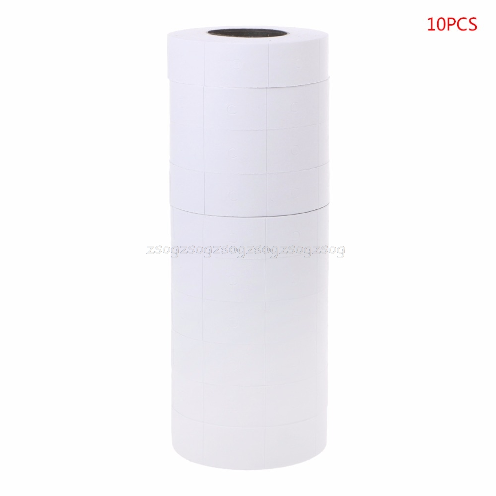 10 Rolls Price Label Paper Refill Tag Mark Sticker Double Row For MX-6600 Labeller Gun Spines Office Binding Supplies N27