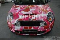 Mat Rose Camouflage Enveloppe de Vinyle Autocollant Bombe Pour Car Styling Livraison Gratuite!