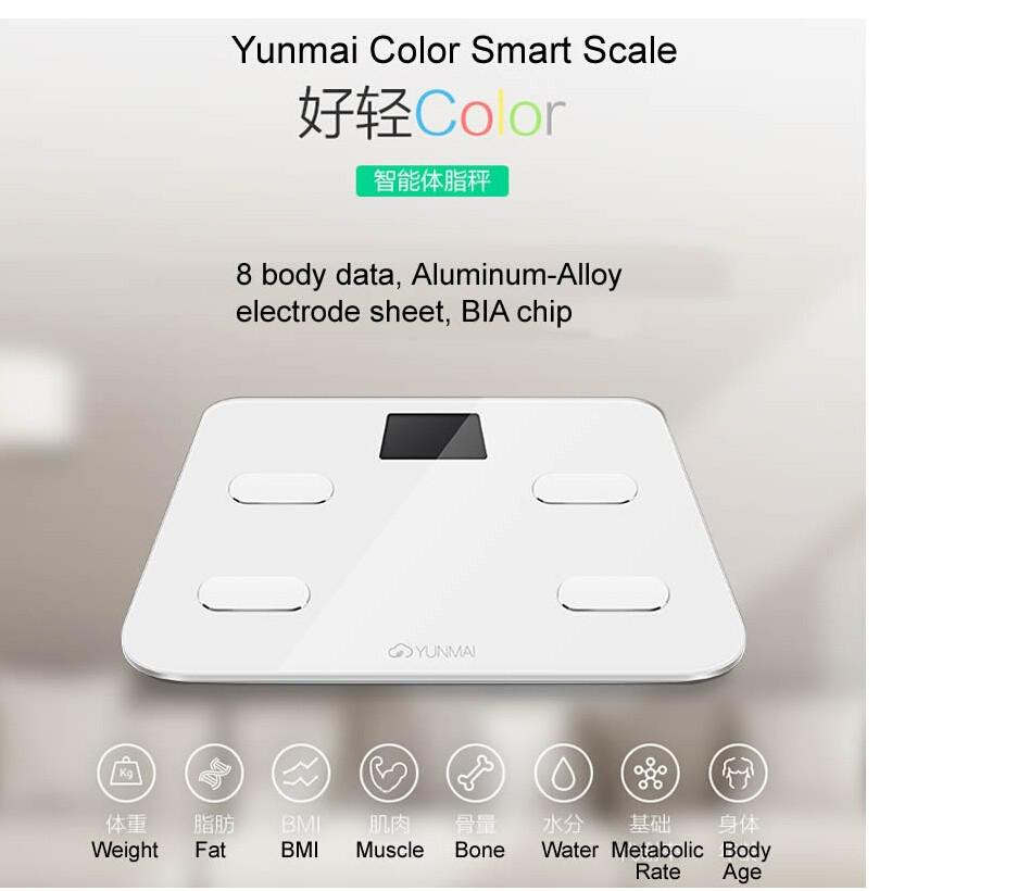 Cheap Bathroom Scales Free Delivery: 9 Discount Hot Promotion !! Original Yunmai Color Scale