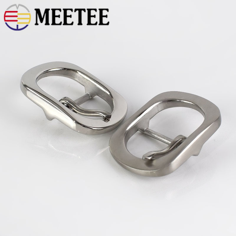 Meetee 1PC Stainless Steel Pin Belt Buckle for 28 30mm Men Women 39 s DIY Leather Craft Hardware Metal Jeans Belt Accessories BD333 in Buckles amp Hooks from Home amp Garden