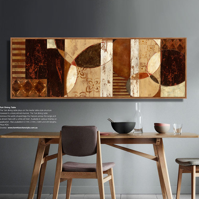 Abstract Painting Horizontal Rectangle Living Room Sofa Wall Canvas Art Modern Home Decor Poster Print Picture African Pop