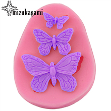 1pcs UV Selected Resin Jewelry Liquid Silicone Mold Three Butterflies Resin Charms Mold For DIY Decorate Making Molds