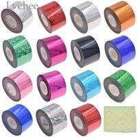 Lychee Life 4 см Широкий многоцветный горячего тиснения фольги бумаги тисненой лазерной фольги поделка рукоделие материал для одежды карты
