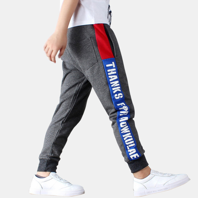 Kid Pants For Boys Pint Letters Boys Pants Autumn Kids Pants Casual Kids Clothes Winter Teenage Boys Clothing For 4 6 8 14 Years