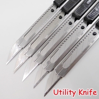 [Deli] (6 Pieces/Lot) 30 Degree Tip Metal Utility Knife Mobile Phone Film Tools Mini Art Cutter Knife High Quality No.2034
