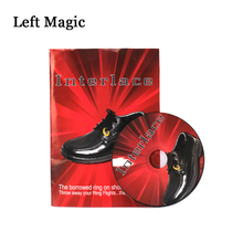 лучшая цена Interlace By Richard Sanders (DVD+Gimmick) Magic Tricks Ring Into Shoes Magic Props Close Up Magic Tool Magician Accessories