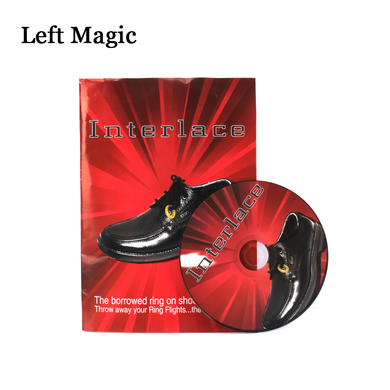 Interlace By <font><b>Richard</b></font> <font><b>Sanders</b></font> (DVD+Gimmick) Magic Tricks Ring Into Shoes Magic Props Close Up Magic Tool Magician Accessories image