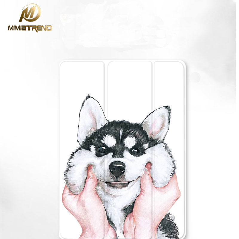 Mimiatrend 3D Dog Magnet Smart Flip Cover For NEW iPad 9.7 Air1 Air2 Mini 1 2 3 4 Tablet Case Protective Shell For New iPad 9.7 mimiatrend tige for apple ipad air 1 2 air2 flip pu leather case smart cover for new ipad 9 7 2017 tablet case for ipad pro 9 7