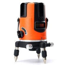 5 ligne Laser Levier 110 Degrés Rouge Ligne Dur Lumière Faisceau Nivellement Gradienter Niveaux Laser Mètre Outil Kit