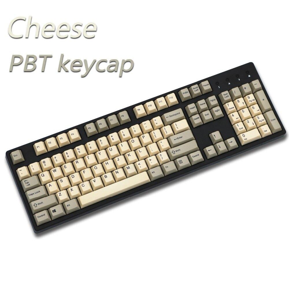 Formaggio keycap 108/155 tasti PBT Ciliegio Profilo Dye-Sublimata MX Interruttore Per tastiera Meccanica keycap di Vendita solo keycap