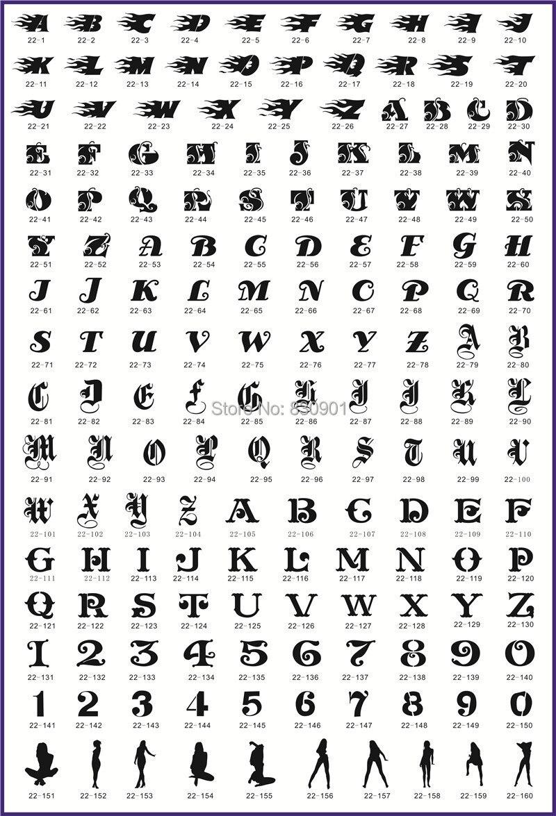 Fénix de oro del aerógrafo tatuaje plantilla libro 22 con 160 letras ...