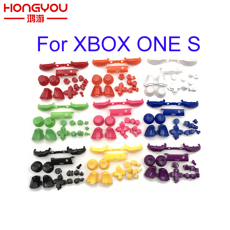 30set Plastic RB LB Bumper RT LT Trigger Buttons Mod Kit For Microsoft Xbox One S Slim Controller Analog Stick Dpad