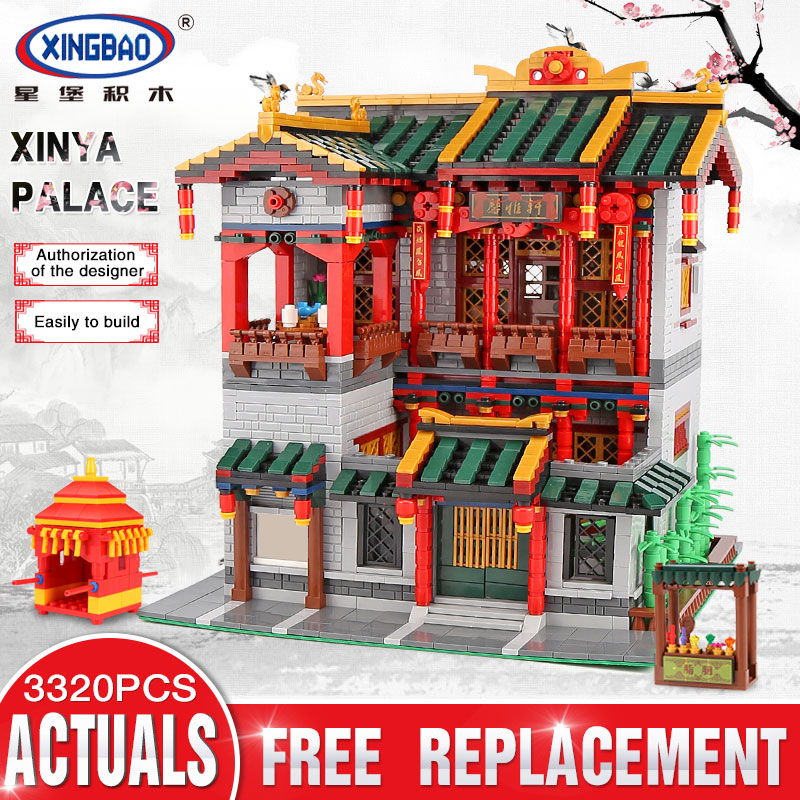 цена Xingbao 01003 Chinese Ancient City View the XINYA Palace Set Compatible Legoinglys Architecture Building Blocks MOC DIY Toys