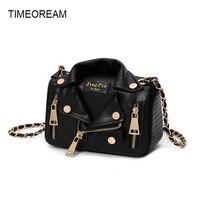 TIMEOREAM2018 Luxury Female Bag Street Punk Style Ladies Handbag Shoulder Diagonal Package PU Leather Handbag Designer