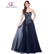 Wholesale strapless chiffon gown