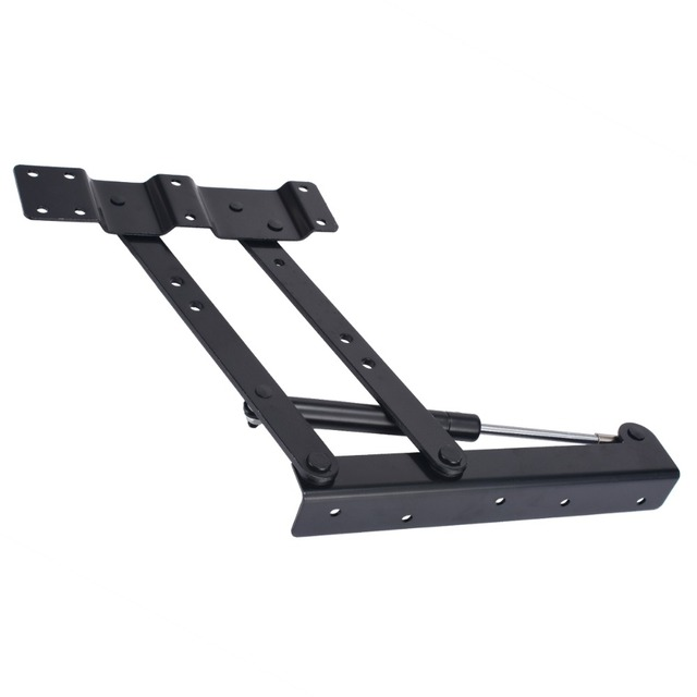 2PCS Lift Up Hinge Top Coffee Table Hinge Mechanism Spring Hinge DIY  Hardware Fitting Tool Black