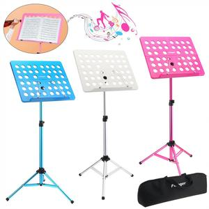 Image 1 - Flanger Folding Lightweight Music Stand ABS Sheet Aluminum Alloy Tripod Stand Holder Height Adjustable with Carrying Cotton Bag