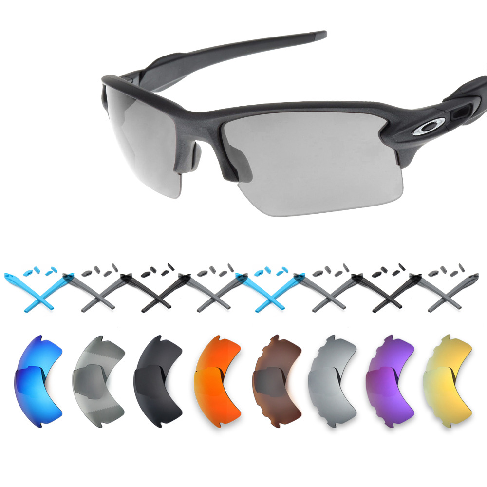 ca64b5cba87dc Mryok Replacement Lenses and Black Rubber Kit for-Oakley Flak 2.0 XL  Sunglasses - Multiple Options