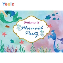 Yeele Mermaid Birthday Party Photocall Room Decor Photography Backdrops Personalized Photographic Backgrounds For Photo Studio