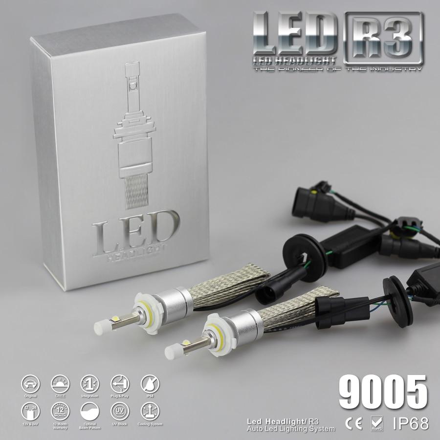 YUMSEEN Super Bright 9600lm 9005 Xenon White 6000K Car LED Headlight Conversion Kit Lamp 4800lm Bulb 1 years warranty