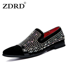 crystal handmade men loafers fashion Slip-On leather & suede slippers male shoes party and wedding dress boat shoes men's flats  new gold toe and gold crystal handmade men loafers men fashion leather slippers men party and wedding dress shoes men s flats