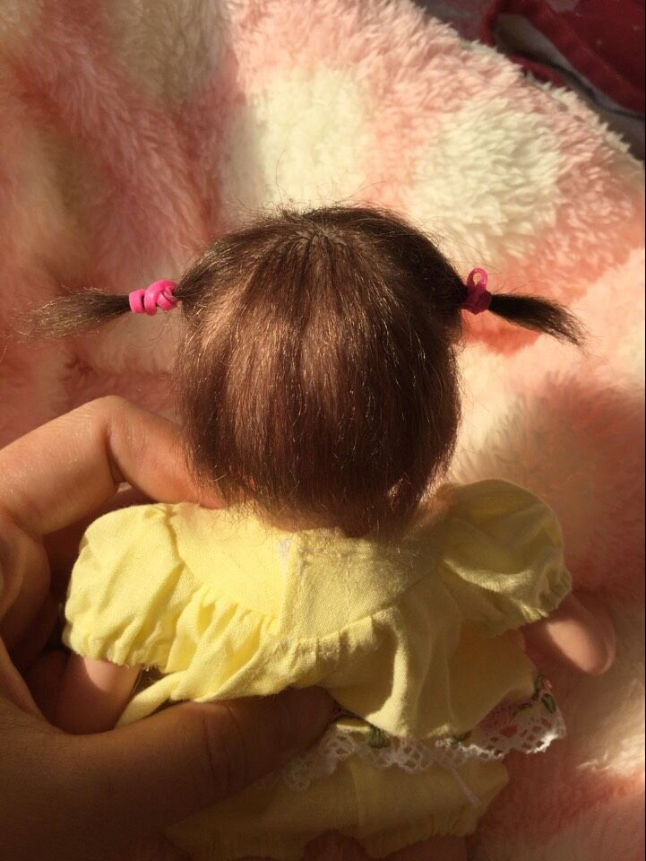 Top Art 7-10 inches mini Doll Reborn baby Babies limited edition yellow Silicone Lifelike Realistic Kids Growth Partners birth таймер show more 220v 10a kg01