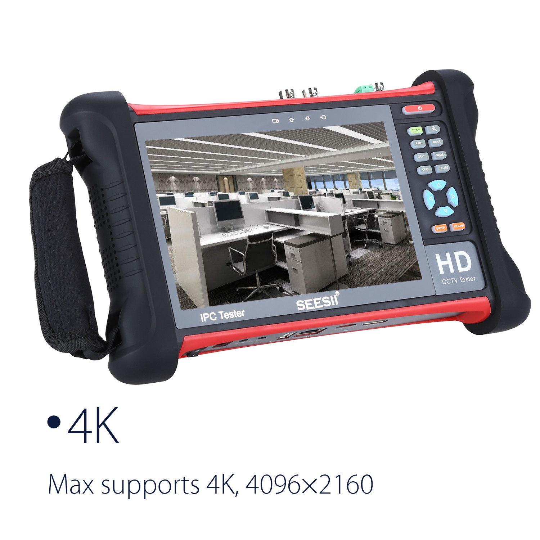 SEESII X7-ADHS4 H.265 7 4K 1080P IPC Camera CCTV Retina Touch Screen Tester Monitor Wifi TVI CVI AHD SDI IP Discovery 1920x1200