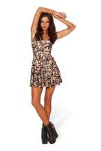 Sexy Sleeveless Fashion Hot Tropical Show Thin Femininas Vintage Casual Women Dress Elastic Print Pattern Vestidos Summer Dress