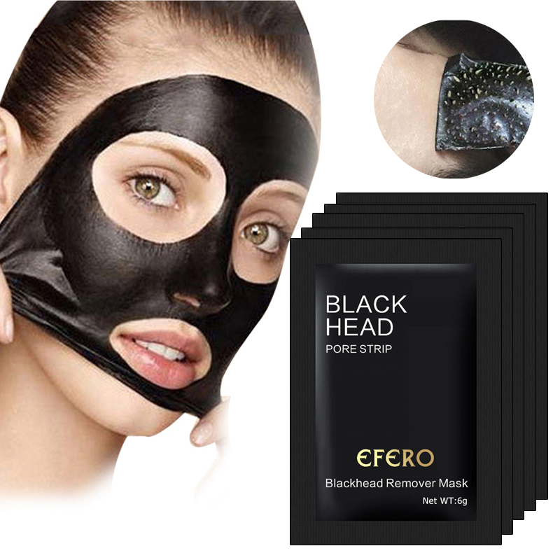 5pcs Mineral Mud Nose Mask Blackhead Pore Cleansing Cleaner Removal Membranes Remove Face Mask Black Head Mask For Face Care