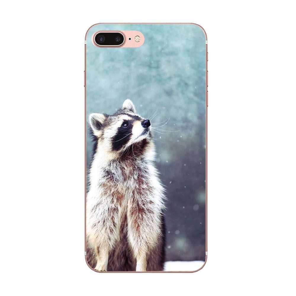 Soft Phone Case Cover For Huawei Mate 7 8 9 10 20 P8 P9 P10 P20 P30 Lite Plus Pro 2017 Animal Raccoon Art Novelty Fundas