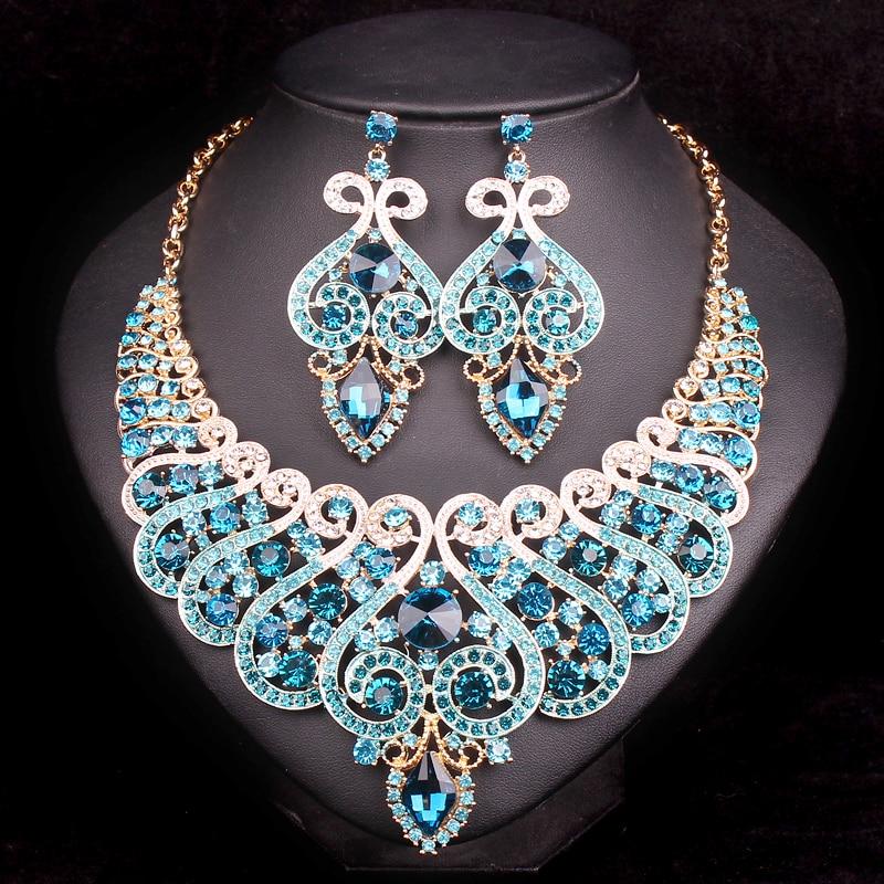Fashion Bridal Jewelry Sets Wedding Engagement Necklace ...