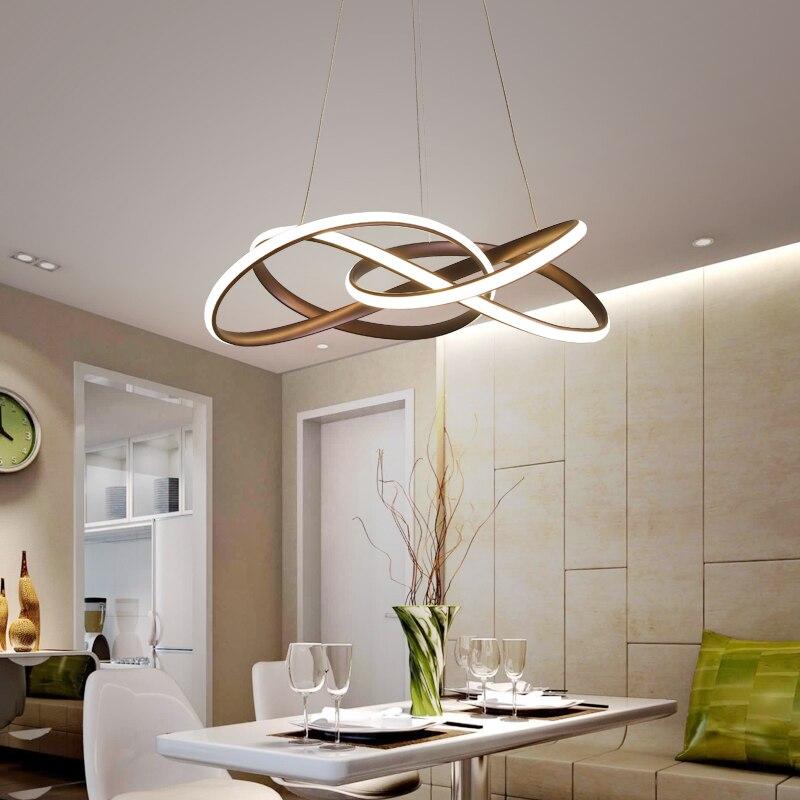 Image 4 - Postmodern minimalist chandelier atmosphere creative personality living room Dining Room Nordic art restaurant Chandelier-in Chandeliers from Lights & Lighting