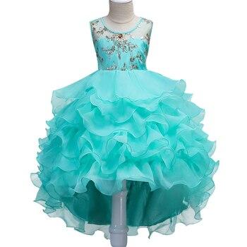Rose Bow fleur filles robe filles robe de fête pour l