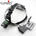 YUPARD NEWEST CREE XM-L2 LED T6 LED Zoom HeadLight HeadLamp Zoomable bright Head lamp +2*18650  4200mAh Battery +Powe charger