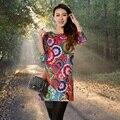 Плюс Размер 5XL Женщины Полный dress Цветочным Принтом Dress 2017 Летняя Stlye Весна Новое Прибытие Женщины Платья Цельный платье vestidos