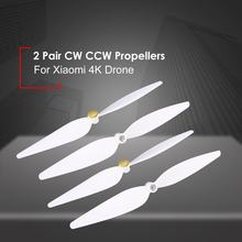 Hot! 2 Pairs 10inch Propellers Spare Parts Props Set for RC Xiaomi 4K Version Drone 4Pcs Blades CW CCW Propellers RC Drone Accs(China)