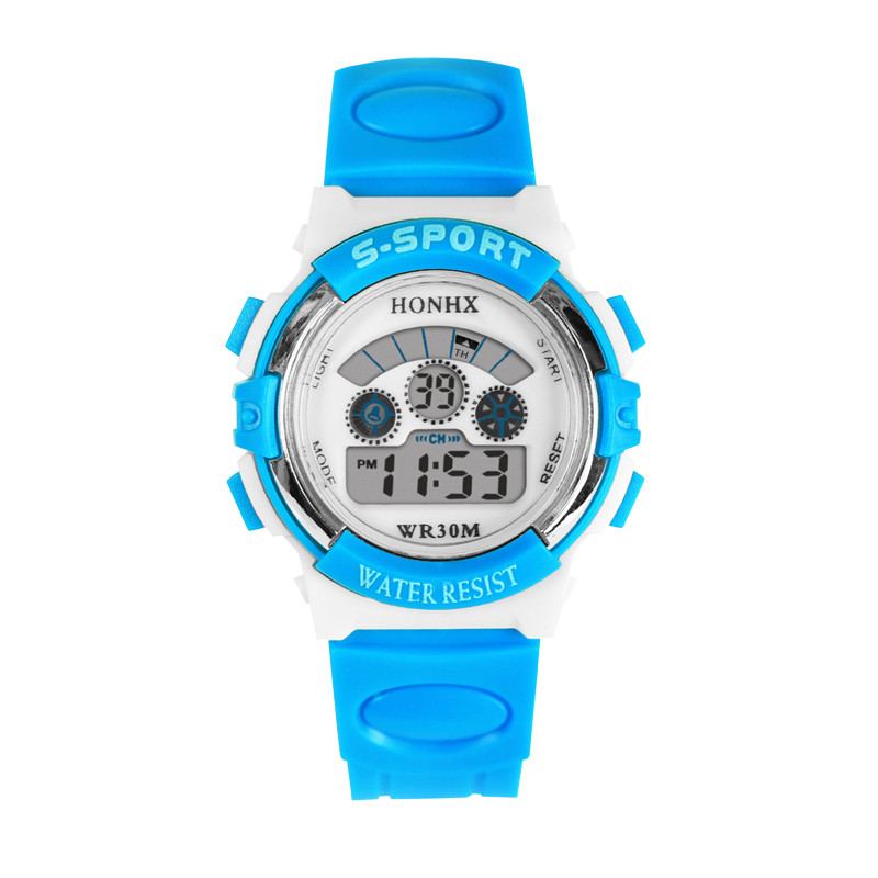 Splendid Luxury Waterproof Mens Boys LED Digital Quartz Alarm Date Sports Wrist Watch wholesale free shipping china custom plastic cool light fashion big mens boy waterproof led alarm electronic digital watch