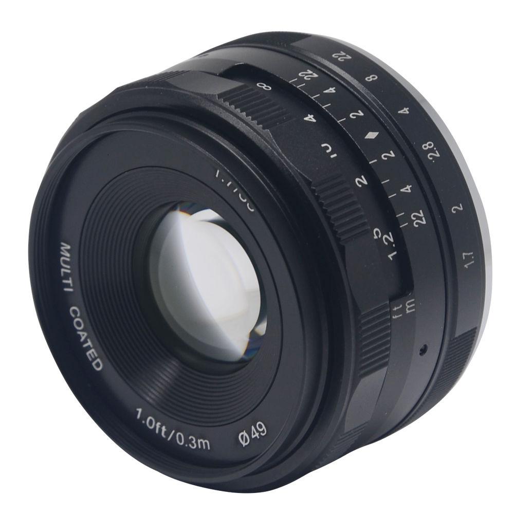 35mm f1.7 Manual Focus Lens APS-C for e mount nex5/6/7 A6000 a5100 a5000 a6300 A6500 A7S A7 A7R A7S II camera