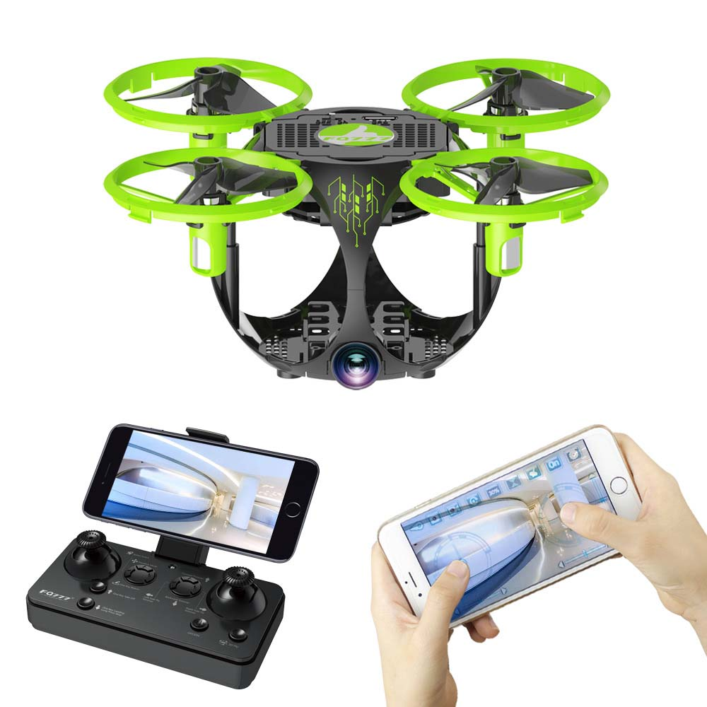 Drone WIFI folding spherical UAV Aerial photography Mini Four axis aircraft model toys UFO toys-in RC Helicopters from Toys & Hobbies