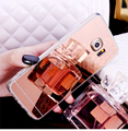 New Rose gold Luxury Mirror Soft Clear TPU Case For Samsung S7 S7 edge S6 S6 edge S5 NOTE 5 Cover Back Free Shipping