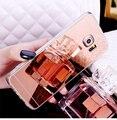 Nuevo espejo de oro rosa de lujo de tpu suave clara para samsung s7 borde borde S6 S6 S7 S5 NOTA 5 de La Contraportada Del Envío Libre