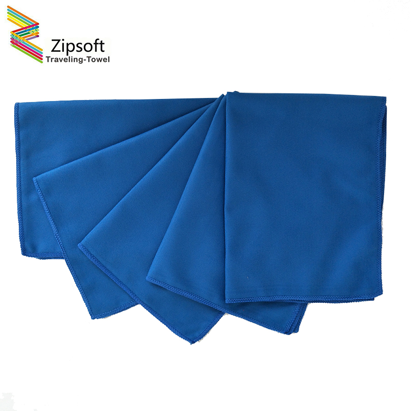 Zipsoft 6PCS Microfiber Glass Towel Blue Window Windshield Cleaning cloths Eyeglass Towels Fast drying durable glass taps