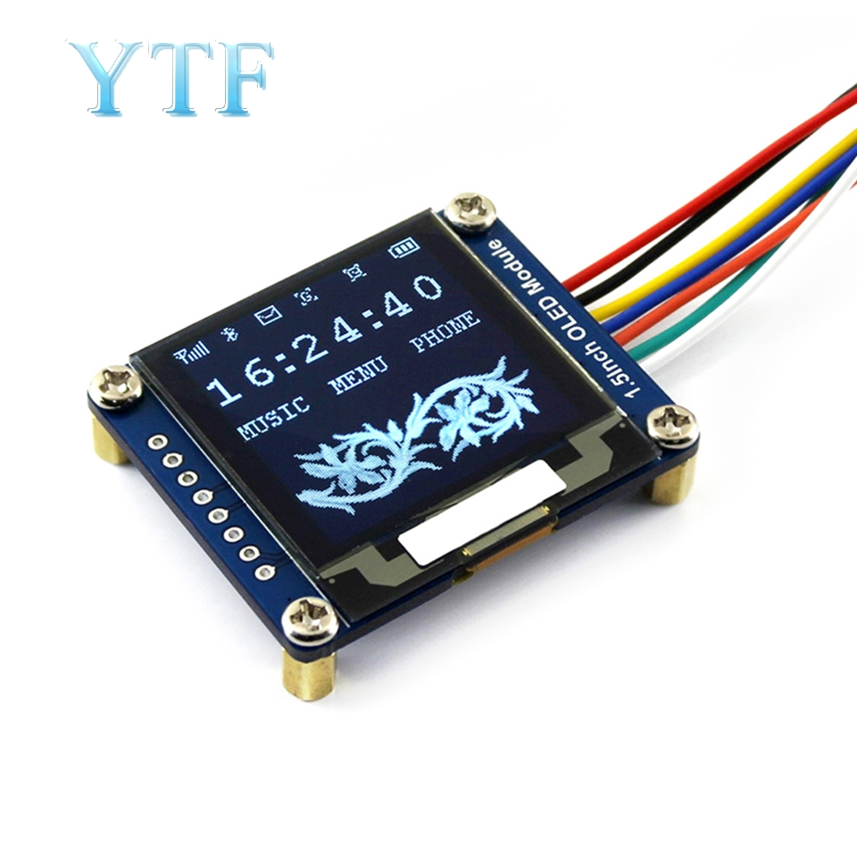 <font><b>1.5</b></font> <font><b>Inch</b></font> <font><b>OLED</b></font> Module SSD1327 Driver Chip SPI/I2C Communication For Arduino Raspberry pi image