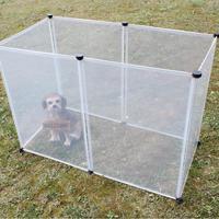6pcs Run Cage Foldable Rabbit Transparent Dog Fence Puppy Iron DIY Dog Pet fence
