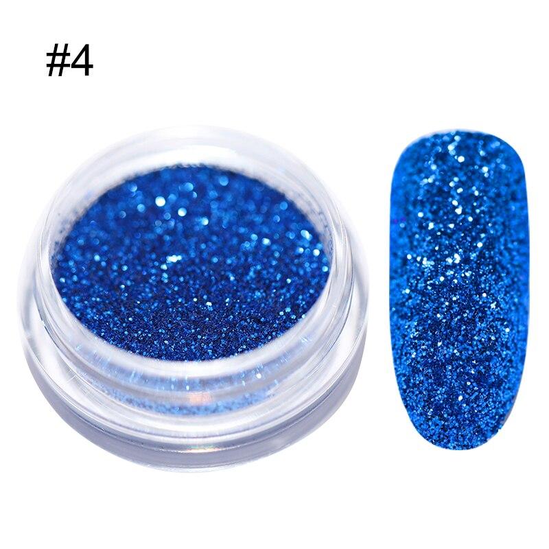 1 г/кор. голографические блёстки для ногтей порошок градиент для УФ гель-лака ногтей украшения сахарный блеск окунание маникюр Дизайн ногтей - Цвет: 4