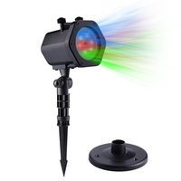 LED Projector Automatic Rotating RGB Waterproof Projection Lights Spotlights With 12 Dynamic Slides For Garden House